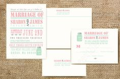 Custom Rustic Wedding Invitation Sample- Rustic Wedding With Mason Jar. $1.75, via Etsy.