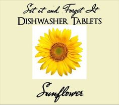SUNFLOWER Set It & Forget It Dishwasher Tabs by YellowEpiphanies