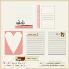 journaling cards   Love You Forever Journaling Cards By Baersgarten