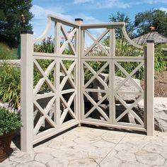 corner garden trellis for privacy idea