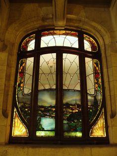 Vitrail de la Chambre de Commerce de Nancy ; Art Nouveau Stained Glass Window, Nancy - France