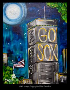 Go Sox Painting - Jackie Schon, The Paint Bar