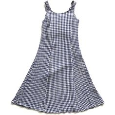 90's Gingham Babydoll Skater Dress ($38) ❤ liked on Polyvore featuring dresses, vintage corset, gingham dress, vintage doll dress, blue and white gingham dress and sleeveless skater dress