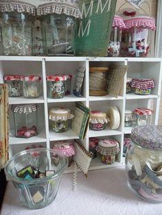 Storage jars. I especially love the mini Bonne maman ones.