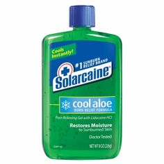Buy Solarcaine Cool Aloe Burn Relief Formula Pain Relieving Gel with Lidocaine HCI drugstore.com