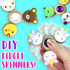 How to Make DIY Fidget Spinners (NO BEARINGS)!