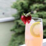 Springtime Mule (Strawberry Rhubarb Syrup, St. Germain, Vodka & Ginger Beer)