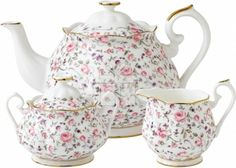 Shop Royal Albert - Rose Confetti Teapot Set at Peter's of Kensington. View our range of Royal Albert online. Why in the world would you shop anywhere else for Royal Albert? Royal Albert, Prince Albert, Tea Sets Vintage, Vintage Teapots, Vintage Party, Vintage Style, China Tea Sets, Tea Pot Set, Teapots And Cups