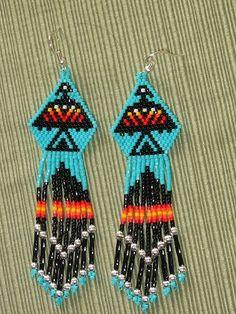 NATIVE AMERICAN Turquoise Eagle Beaded Earrings by Beading4u, $25.00