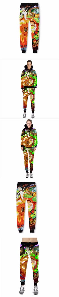 Unisex Casual Rick and Morty 3D Print Jogger Pants Men's Novelty full Length Pencil Pant Women's fashion Trousers Streetwear