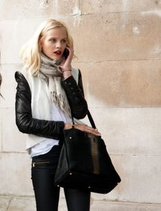 Jacket, Scarf, Pants, Bag, Weekend Casual
