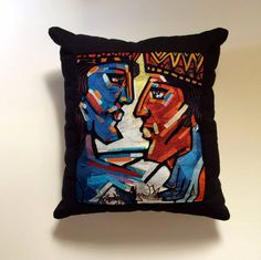 The Museum Collection is a selection of limited edition, hand embroidered… Most Famous Paintings, Embroidered Cushions, Museum Collection, Hand Embroidery, Artisan, Hands, King, Throw Pillows, Unique