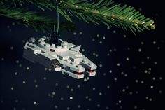 That's it I'm getting an #xmas tree this year! Millenium Falcon Ornament by Chris McVeigh #StarWars