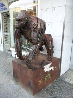 iron gorilla sculpture 1 by ~vitopetre on deviantART