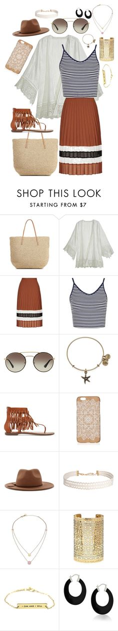 """""""Untitled #56"""" by snoconekid on Polyvore featuring Target, Calypso St. Barth, Topshop, Prada, Alex and Ani, Sam Edelman, Forever 21, Humble Chic, Michael Kors and Bling Jewelry"""