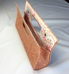d6c9c8545e89f Handmade cork handbag with fabric interior by CorkCraftsClay Schnittmuster
