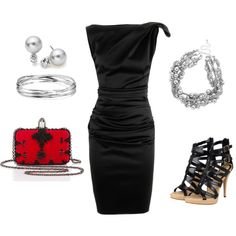 """A Night Out"" by deborah-simmons on Polyvore"