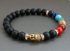 that my favorites today - 10 от Svetlana Perezhogina на Etsy Bracelets With Meaning, Cute Bracelets, Gemstone Bracelets, Bracelets For Men, Handmade Bracelets, Handmade Jewelry, Chakra Jewelry, Chakra Bracelet, Yoga Bracelet