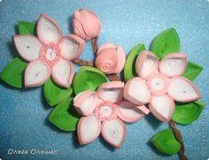 Spring quilled flowers - by Olga Olshak