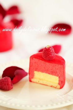 dailydelicious: Rouge Amour: Raspberry and rose entremets, My love is red !!