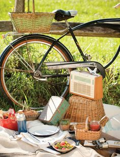 It's summer time!   Why not take a bike ride and have a picnic!