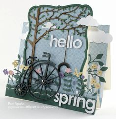 Memory Box Hello Spring Step card