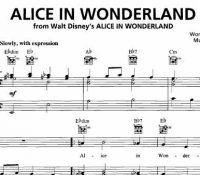 Alice In Wonderland Sheet Music Disney Sheet Music