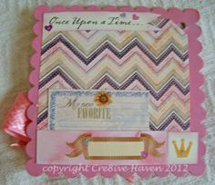 Once upon a time... baby girl mini album page
