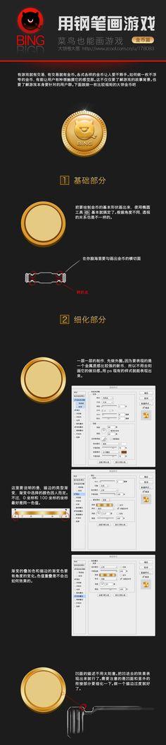 游戏图标设计教程-金币@宁缺毋滥-小虞采集到icon(29图)_花瓣