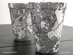 styrofoam and sharpie art