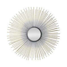 Give your modern bathroom, bedroom, or entry way a chic, contemporary accessory with this stunning mirror. Gorgeously crafted with beams featuring graduated gold finishing, this Sun Beam Mirror will pr...  Find the Sun Beam Mirror, as seen in the Timeless Mid-Century Ranch Collection at http://dotandbo.com/collections/timeless-mid-century-ranch?utm_source=pinterest&utm_medium=organic&db_sku=112105