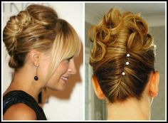 Next, fold all of the hair—except for the front section two inches from the crown—into a French twist. Description from pinterest.com. I searched for this on bing.com/images