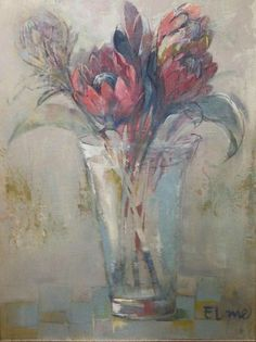 Protea Art, Protea Flower, Painting Inspiration, Art Inspo, Paintings I Love, Flower Paintings, Painting Flowers, Flower Art, Art Flowers