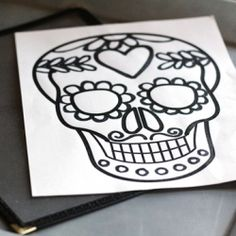 Celebrate Dia de los Muertos with this free calavera printable from Tried & True! I would like this as a tattoo.