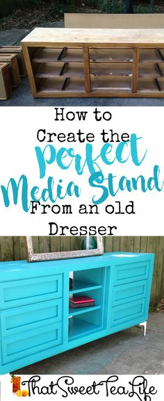 How to Create the Perfect Media Center (from an Old Dresser) - That Sweet Tea Life