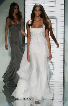 Gianni Versace Models   Model Daria Werbowy walks down the catwalk during the Gianni Versace ...