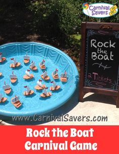Rock the Boat Carnival Game -- Carnival players are given 3 chances to pick two different sailboats with matching numbers on their bottom side. If the numbers on 2 boats match, they win a prize!