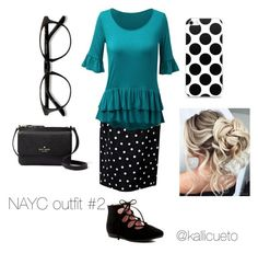 """""""NAYC outfit #2"""" by kallicueto on Polyvore featuring Chanel, WithChic, Taryn Rose, EyeBuyDirect.com and Kate Spade"""