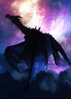 Dragon in the night sky
