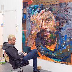 Andrew Salgado on working hard, worrying less and staying razor sharp in a cut-throat industry Studios D'art, Modern Art, Contemporary Art, L'art Du Portrait, Portraits, Figurative Kunst, Art Inspiration Drawing, Arte Pop, Art Moderne