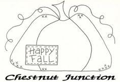 Free Primitive Craft Patterns | Free! : Chestnut Junction Primitive Patterns and E-patterns, Primitive ...