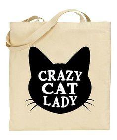 Look at this #zulilyfind! 'Cat Lady' Tote #zulilyfinds