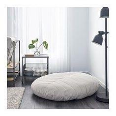 IKEA - DIHULT, Siddepude, , DIHULT er en rummelig siddeplads på gulvet eller et komfortabelt og afslappende sted at sidde, når den er foldet op ad væggen. Så enkelt er det!Betrækket er nemt at holde rent, fordi det kan tages af og maskinvaskes.