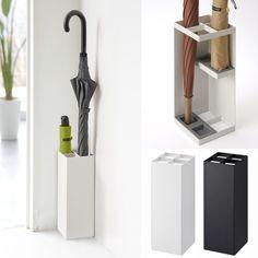 Ingenioso paragüero con espacio para cuatro paraguas, dos grandes y dos pequeños. Cómpralo en línea en Givensa.com