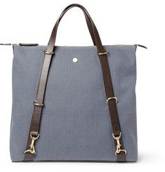 Mismo - Convertible Leather-Trimmed Canvas Tote Bag |MR PORTER