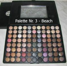 #Gewinnspiel Palette Nr. 3 - BEACH:  88 Colour Eyeshadow Make Up Palette - Beach