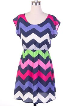 Colorful chevron dress