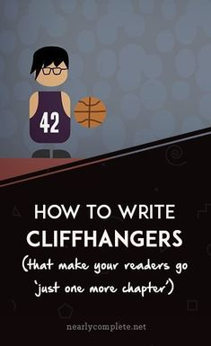 Cliffhangers: the noble art of 'just one more chapter' You don't need to write horror to cause sleepless nights. Learn how to write cliffhangers that'll make your readers pee themselves a little. Book Writing Tips, Writing Quotes, Fiction Writing, Writing Resources, Writing Help, Writing Skills, Writing Prompts, Writing Goals, Writing Ideas