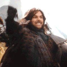 kili from the hobbit gif | the hobbit LOTR kili an unexpected journey aidan turner The Hobbit an ...