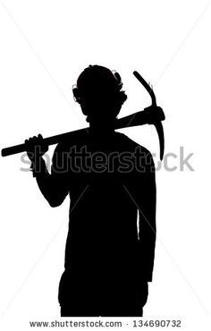 Image result for silhouette welsh coal miners